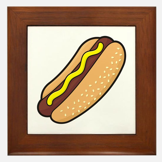 Cute Barbeque Framed Tile