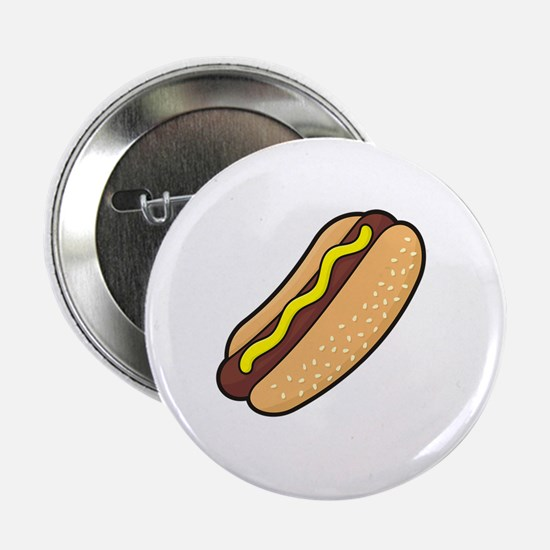 "Cute Hot dog 2.25"" Button"