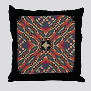 Aztec Pattern Earthy Warm tones Throw Pillow
