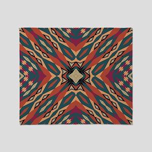 Aztec Pattern Earthy Warm tones Throw Blanket