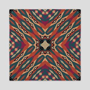 Aztec Pattern Earthy Warm tones Queen Duvet