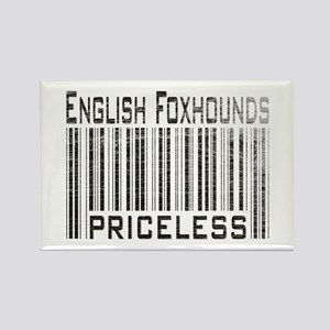 English Foxhound Dog Owner Lo Rectangle Magnet