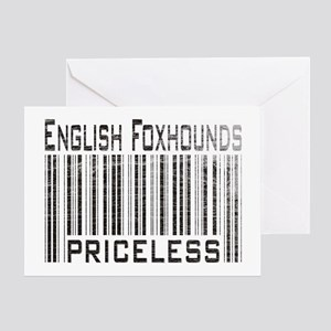 English Foxhound Dog Owner Lo Greeting Card