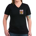 Mathivon Women's V-Neck Dark T-Shirt