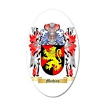Mathieu 35x21 Oval Wall Decal