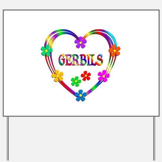 Gerbil Heart Yard Sign