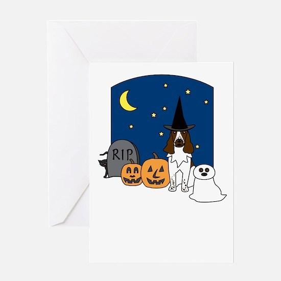 Eng. Springer Halloween Greeting Card
