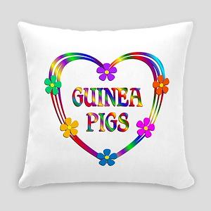 Guinea Pig Heart Everyday Pillow