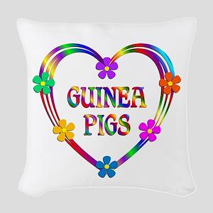 Guinea Pig Heart Woven Throw Pillow