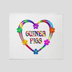 Guinea Pig Heart Throw Blanket