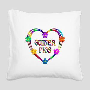 Guinea Pig Heart Square Canvas Pillow