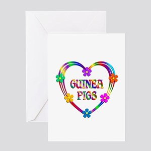 Guinea Pig Heart Greeting Card
