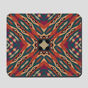 Aztec Pattern Earthy Warm tones Mousepad