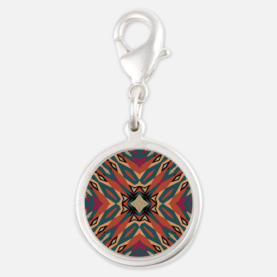 Aztec Pattern Earthy Warm tones Charms