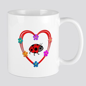 Ladybug Heart Mug