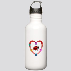 Ladybug Heart Stainless Water Bottle 1.0L