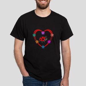 Ladybug Heart Dark T-Shirt