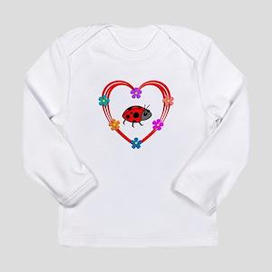 Ladybug Heart Long Sleeve Infant T-Shirt
