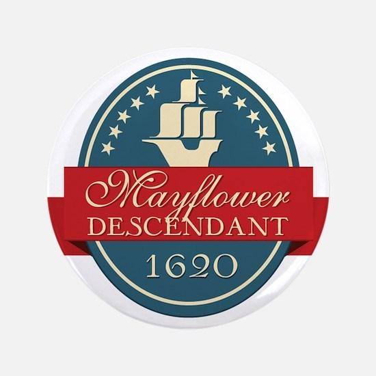 """Mayflower Descendant Emblem 3.5"""" Button (100 pack)"""