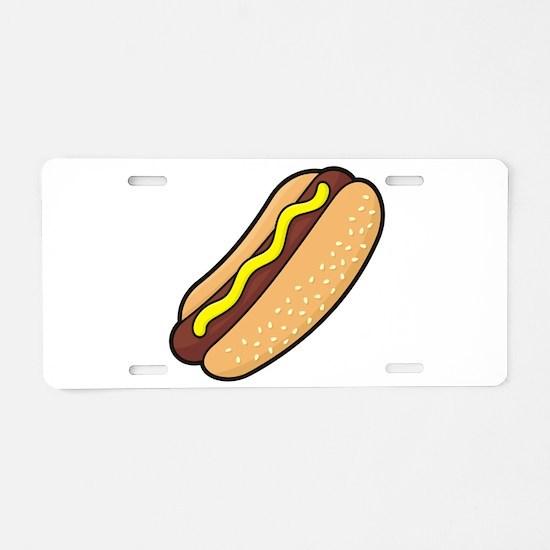 Hotdog Aluminum License Plate