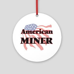 American Miner Round Ornament