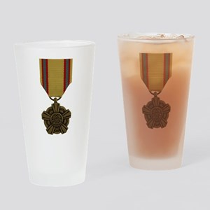 Sustained Auxiliary Service Medal Drinking Glass