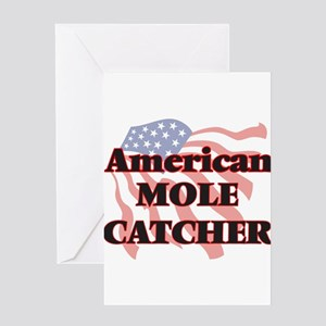 American Mole Catcher Greeting Cards
