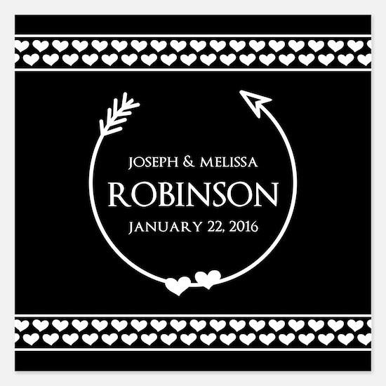 Elegant Wedding Monogrammed Invitations