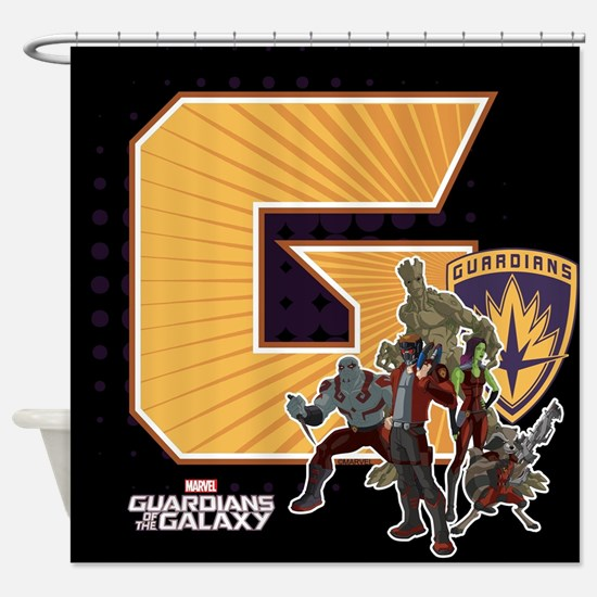 GOTG Golden G Shower Curtain