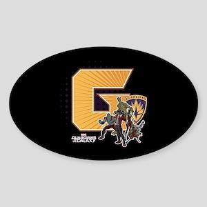 GOTG Golden G Sticker (Oval)
