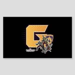 GOTG Golden G Sticker (Rectangle)