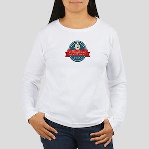 Mayflower Descendant Emblem Long Sleeve T-Shirt