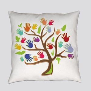 Tree Of Hands Everyday Pillow