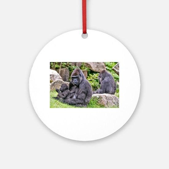 Cute Gorilla Round Ornament