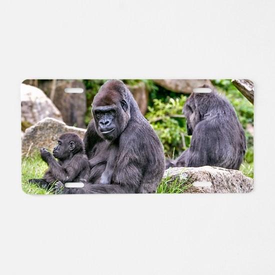 Cute Gorilla Aluminum License Plate