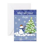 Christmas Snowman Greeting Cards