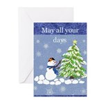 Christmas Snowman Greeting Cards (pk Of 10)