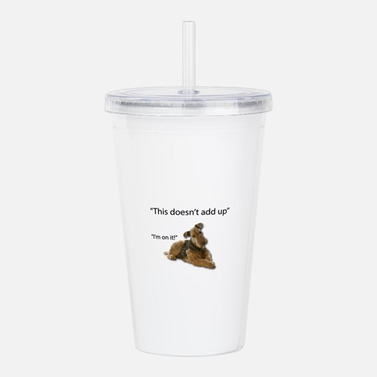 Airedale is confused: Acrylic Double-wall Tumbler
