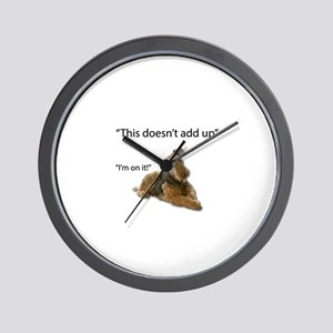 Airedale is confused: things aren't add Wall Clock