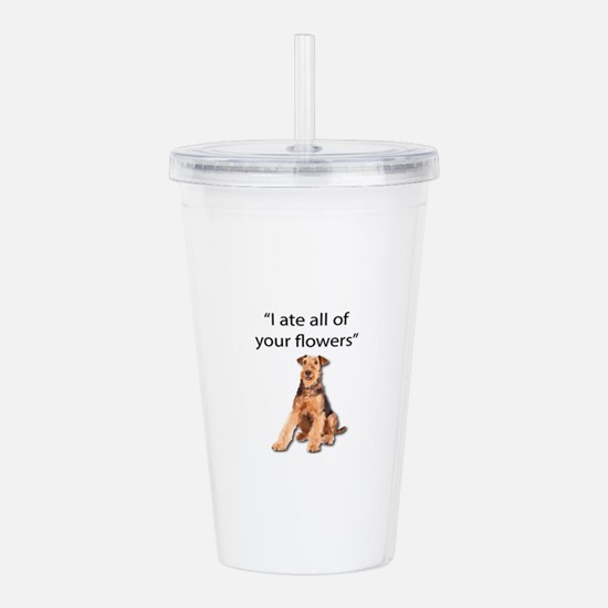 Rowdy Airedale Terrier Acrylic Double-wall Tumbler