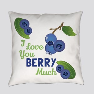 Love You Berry Much Everyday Pillow