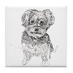 """""""Yorkshire Terrier"""" by M. Nicole van Tile Coaster"""