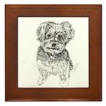 """Yorkshire Terrier"" by M. Nicole van D Framed Tile"