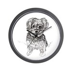 """Yorkshire Terrier"" by M. Nicole van Da Wall Clock"