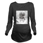 """Yorkshire Terrier"" Long Sleeve Maternity T-Shirt"