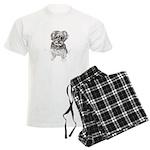 """Yorkshire Terrier"" by M. Nic Men's Light Pajamas"