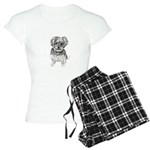 """Yorkshire Terrier"" by M. N Women's Light Pajamas"