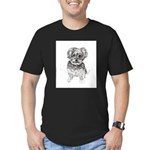 """Yorkshire Terrier"" by Men's Fitted T-Shirt (dark)"