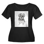 """Yorkshi Women's Plus Size Scoop Neck Dark T-Shirt"