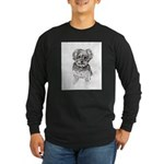 """Yorkshire Terrier"" by M. Long Sleeve Dark T-Shirt"